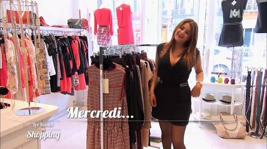 Robe noire de Julia dans les reines du shopping le 01/07