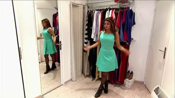 Robe verte Julia dans les reines du shopping