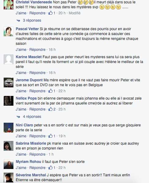 Les fans une nouvelle fois inquiets que Peter meure dans LMDLA / Capture facebook Serge Gisquière fans