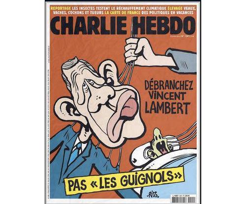Avis et commentaires sur la une de Charlie Hebdo du 29/07/2015