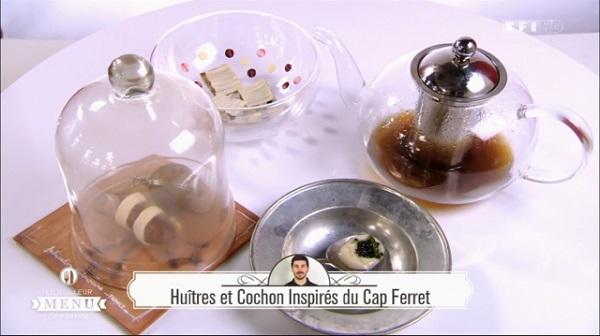 Recette de Fabrice Mignot : Huître et cochon inspirés du Cap Ferret