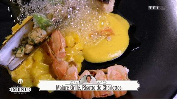 Recette de Denys Colin : Maigre grillé, risotto de charlottes Les notes de Denys Colin pour le poisson
