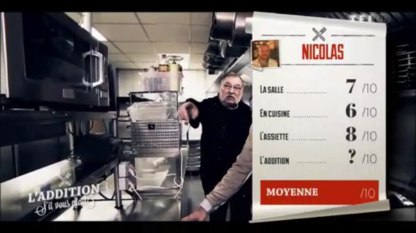 Les notes de Nicolas e de sa brasserie de l'addition SVP à La Rochelle