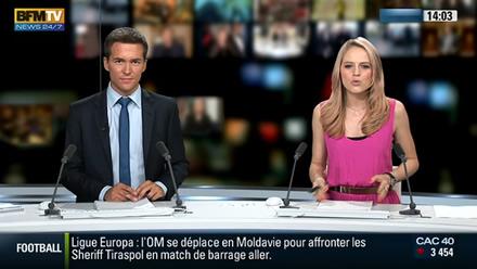 Adrien Gindre et Claire Arnoux jokers de BFMTV à l'antenne
