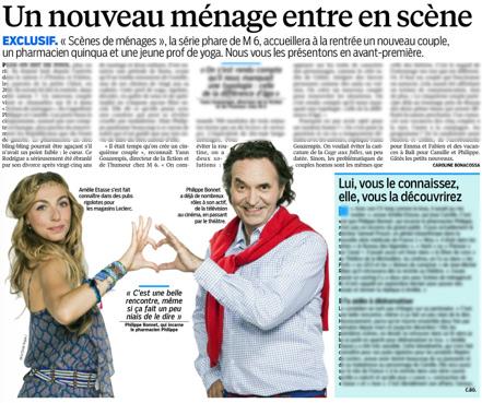 Le Parisien annonce l'arrivée de Camille et Philippe dans Scènes de ménages dès la rentrée 2015