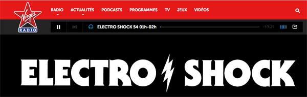 Electroshock le remplaçant de Enora le soir sur Virgin Radio (rentrée 2015)