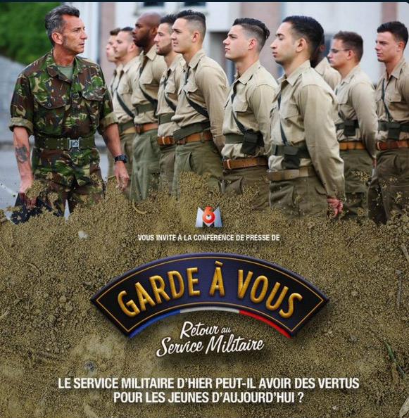 Le poster promo de Garde à vous retour au service militaire de M6 pour la conférence de presse