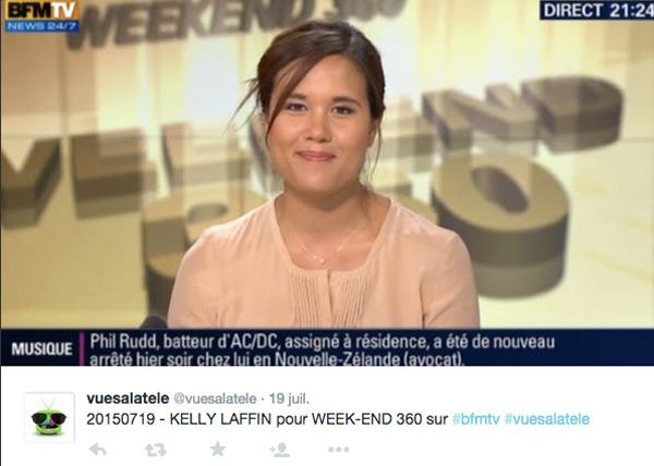 Kelly Laffin radieuse à l'antenne de BFMTV