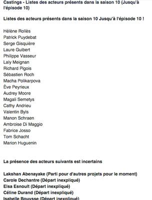 Le casting LMDLA saison 10 les 1ères tendances / Capture écran facebook reference.lmydla