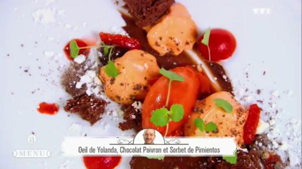 Le dessert d'Hervé Rodriguez du meilleur menu de France