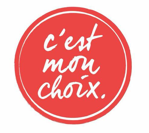 Le nouveau logo de C'est mon choix version Chérie 25