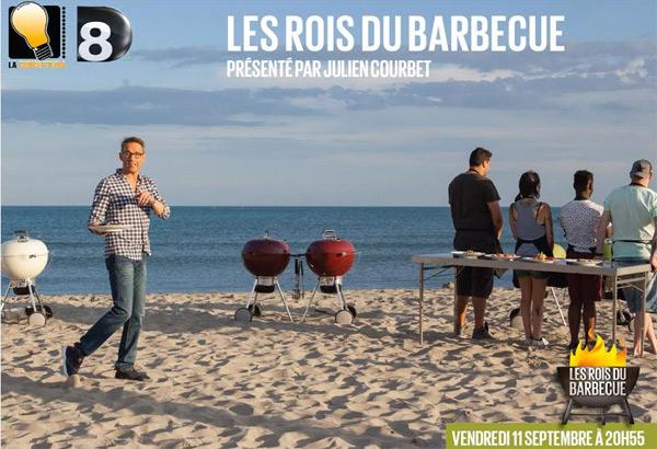 Photo promo Les rois du barbecue de D8 avec Julien Courbet
