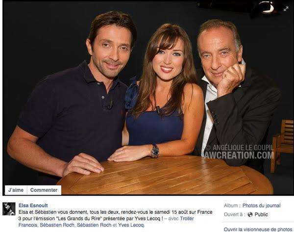 Sebastien Roch et Elsa Esnoult à ne pas manquer sur France 3 / Capture écran facebook