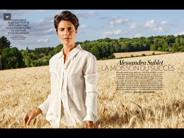 Alessandra Sublet prête pour les défis difficiles sur TF1 entre animatrice et productrice / Photo Paris Match - Sylvie Lancrenon
