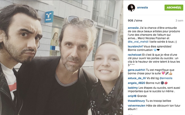 Quand arrive l'album D'Anne Sila 2015 de The Voice ? / Capture écran Instagram annesila