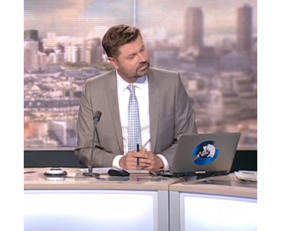 Damien Givelet remplaçant Michel Field sur LCI / Capture écran