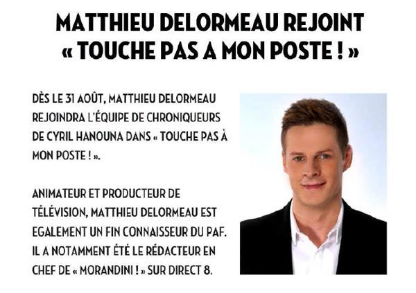 Avis Matthieu Delormeau dans TPMP sur D8 : bon chroniqueur ?