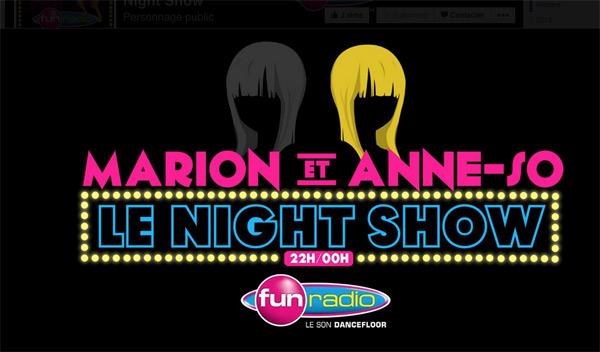 Vos avis sur le Night show de Fun radio avec Marion et Anne So : vous aimez ?