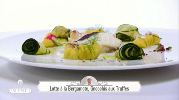 Recette poisson Hervé Fourrière : Lotte à la Bergamote, gnocchis aux truffes