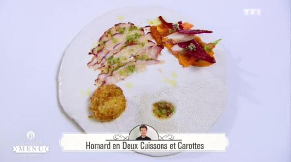 Recette poisson de Maxime Schelstraete : Homard en Deux cuissons et carottes