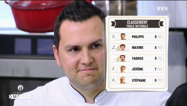 Les notes Le meilleur menu de France du 31 août 2015