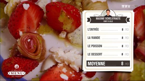 Les notes de Maxime dans le meilleur menu de france