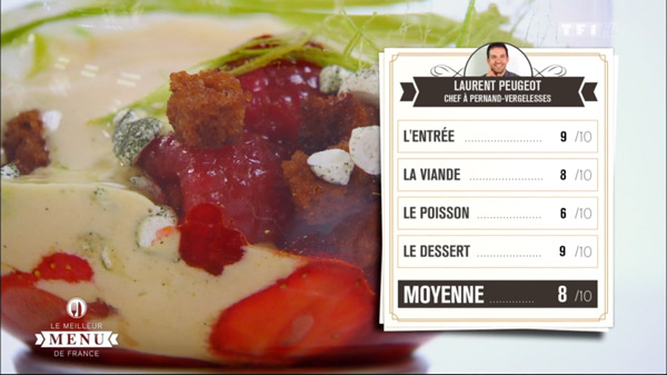 Les notes de Laurent Peugeot dans le meilleur menu de France