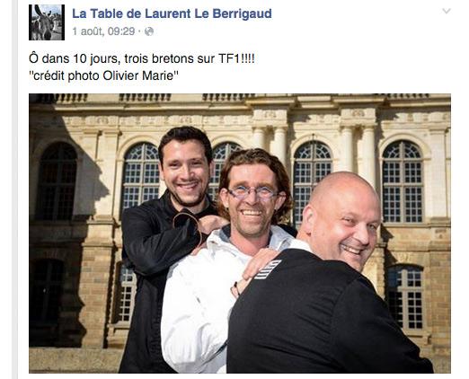 Avis et commentaires sur Laurent Le Berrigaud vu sur TF1 #LMMDF  (il est situé au milieu)