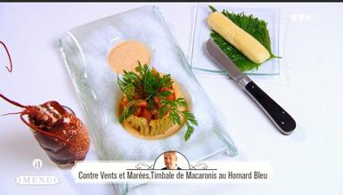 Recette Contre vents et marées, timbale de macaronis au homard bleu