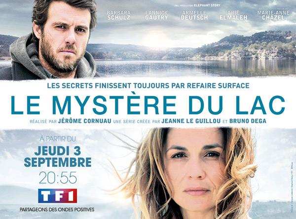 Poster promo Le mystère du Lac sur TF1 avec Barbara Schulz