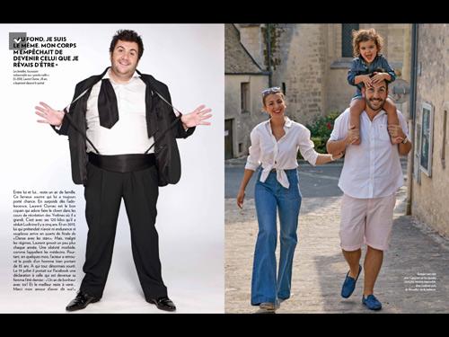 Laurent Ournac a bien changé depuis Mon incroyable fiancé / Capture écran Paris Match page 80_81
