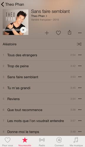 Album de Theo Phan alias Yann de LMDLA
