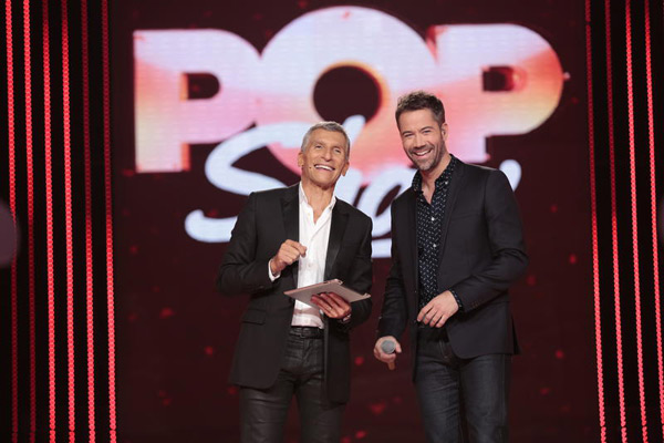 Emmanuel Moire et Nagui pour Pop Show de France 2