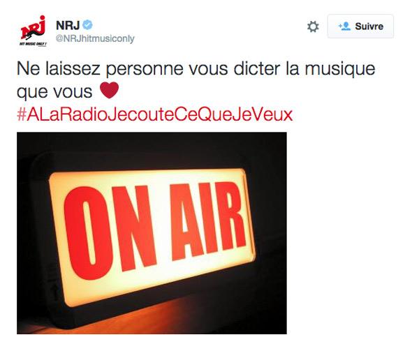 Pétition quota des chansons en radio : A la radio j'écoute ce que je veux