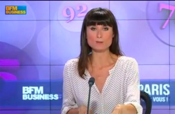 Aurélie Blonde dans BFM Business, journaliste déjà sur la chaîne
