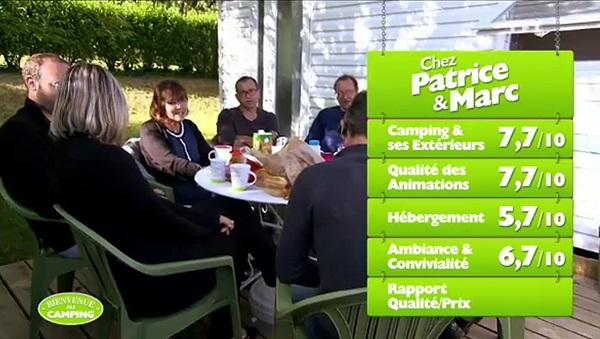 Les notes du camping de Patrice et Marc de Bienvenue au camping