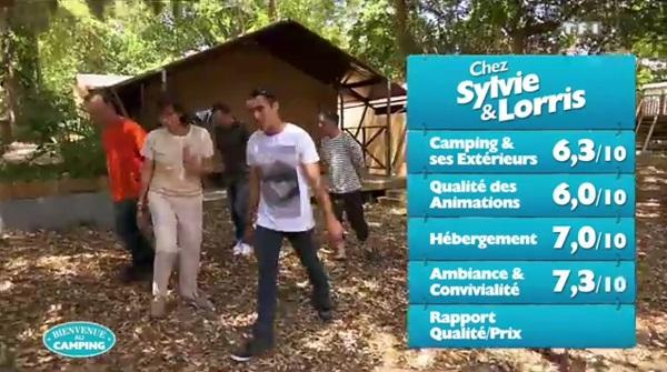 Les notes de Sylvie et Lorris dans Bienvenue au camping de TF1