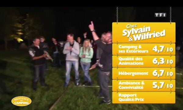 Les notes de Sylvain et Wilfried dans Bienvenue au camping