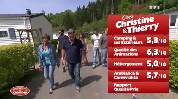 Les notes pour Christine et Thierry dans Bienvenue au camping