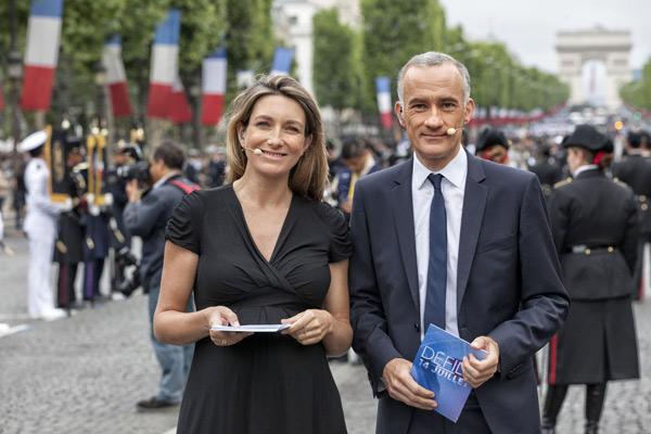Anne Claire Coudray et Gilles Bouleau les 2 titulaires des JT de TF1
