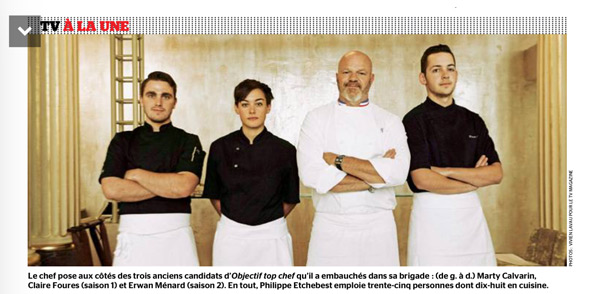 Photo de Erwan Menard dans Objectif Top Chef saison 2 / Photo TV magazine
