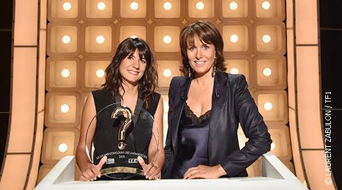 Estelle Denis gagnante du grand concours des animateurs