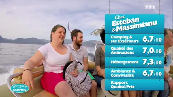 Les notes Esteban et Massimianu en Corse pour Bienvenue au camping : ils ont eu un 10, peuvent-ils gagner du coup ?