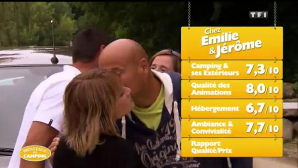 Les notes d'Emilie et Jérôme dans Bienvenue au camping sur TF1