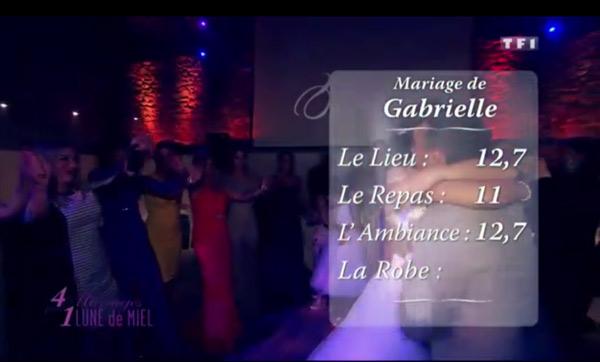 Les notes du mariage de Gabrielle dans 4 mariages