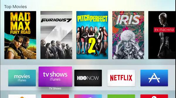 Les appli télé / médias à installer sur l'apple TV 4G (2015)