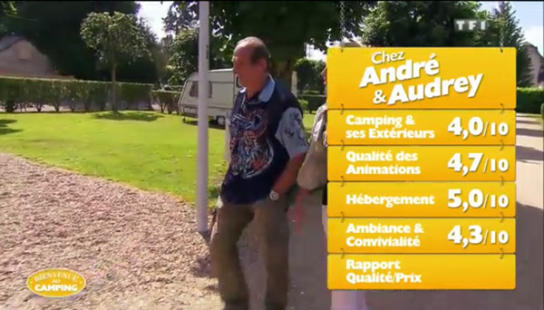 André et Audrey auront du mal à être les gagnants de Bienvenue au camping vu leurs notes
