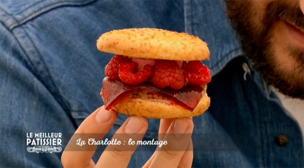 Découvrez la charlotte burger de Cyril Lignac dans le meilleur pâtissier de M6