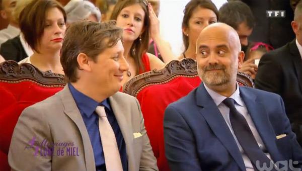 Mariage  gay de Tony er Nicolas à Nice dans 4 mariages pour 1 lune de miel à Nice par Christian Estrosi