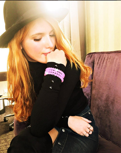 Bella Thorne l'héroïne de Famous in love d'ABC Family la série teen / Photo Instagram
